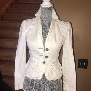 Armani exchange women's white jean jacket